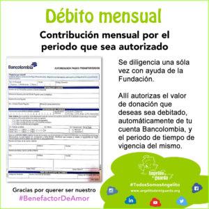 Donación por Débito Mensuall